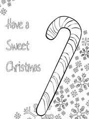 Christmas Coloring Card 2