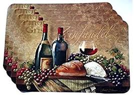 amazon com wine themed plastic placemats set of 4 home kitchen