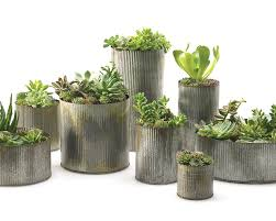 Plants These Rustic Corrugated Galvanized Planters