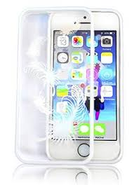 coque iphone 5 ouo coque housse en pc transparent et contours en