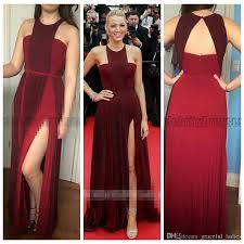 blake lively burgundy prom dress cannes 2014 red carpet dresses