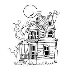 coloriage maison hantée a imprimer gratuit