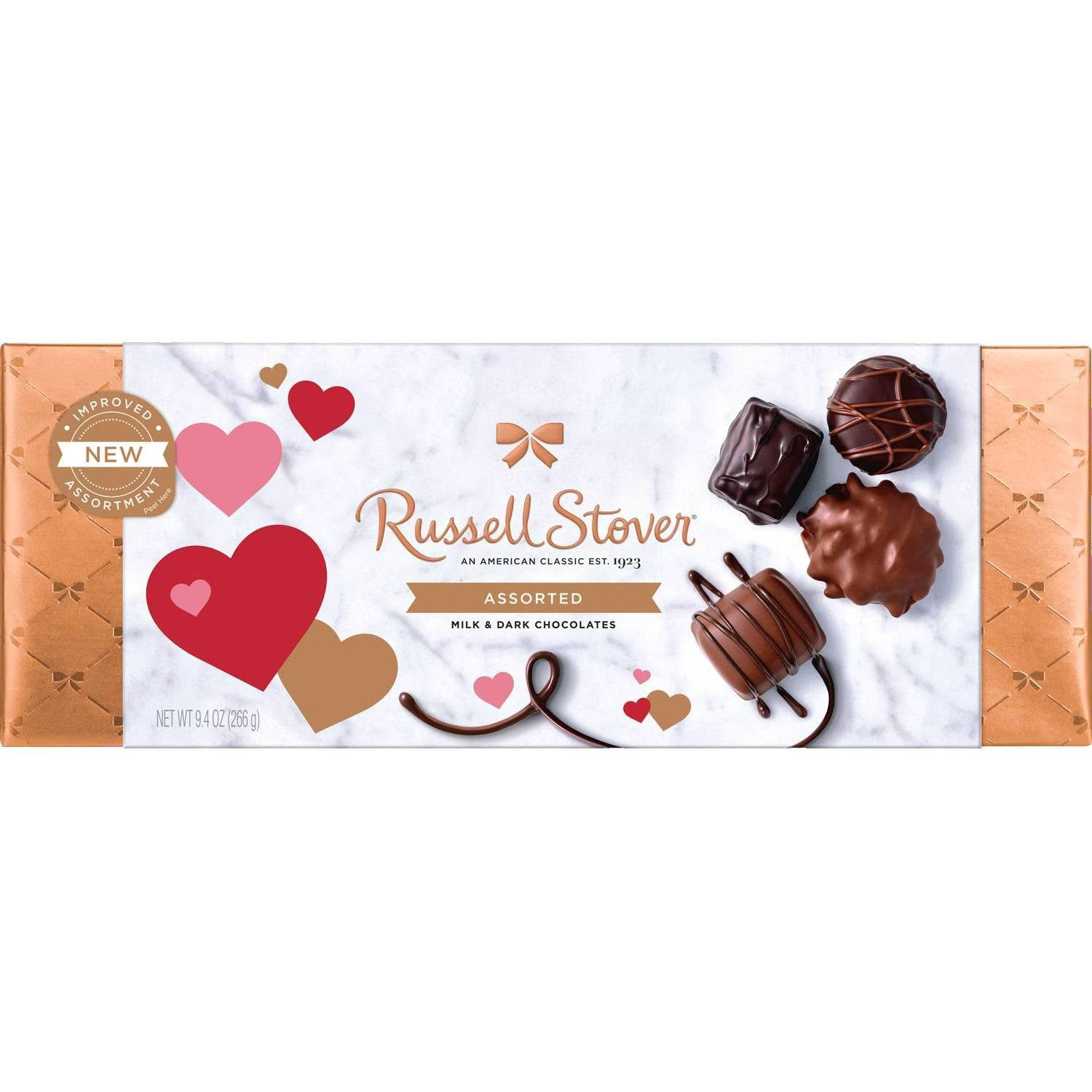 Russell Stover Chocolate, Milk & Dark, Assorted - 9.4 oz