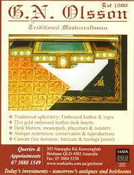Leather Desk Blotter Australia by Gn Olsson Interiors Fine Furniture U0026 Antiques Publications