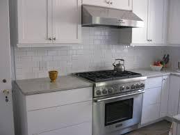 kitchen backsplash beveled subway tile glass subway tile white