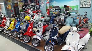 Our Current Inventory Of Piaggio And Vespa Scooters
