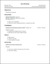 No Job Resume Experience Template Teenager Bank Format