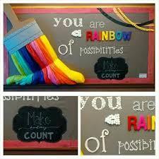 Back To School Bulletin Boards Self Esteem Rainbows 3d Art
