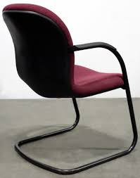 100 Burgundy Rocking Chair Herman Miller Sled Base Used Side National Office