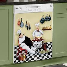 Fat Chef Dishwasher Magnet Bistro Kitchen Door Cover Waiter Home Decor New In Collectibles Magnets
