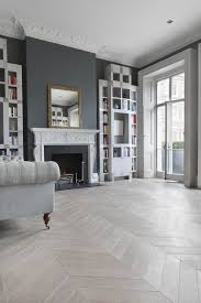Faus Flooring Retailers Uk by A Classic Living Room In Shades Of Grey Including Ash Grey Chevron