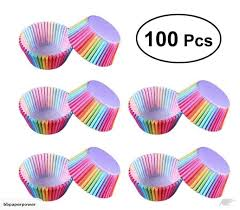 Rainbow Baking Cup Standard Size