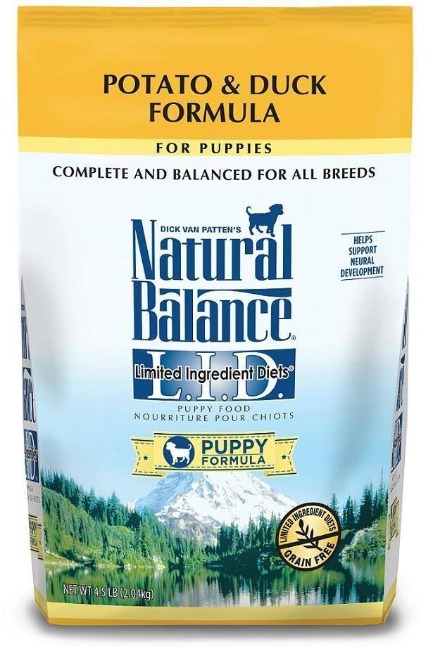 Natural Balance Lid Puppy Formula Dry Dog Food - Potato and Duck, 4.5lbs
