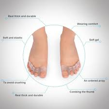 Amazon Gel Toe Separators Spacers Stretchers For Men And Women Easy Wear In Shoes Quickly Alleviating Pain After Yoga Sports Activities 1