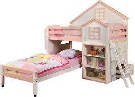 Hokku Designs Stewart House Twin Loft Bunk Bed & Reviews