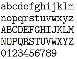 CMUTypewriter BoldItalic CMUSerif UprightItalic CMUTypewriterVariable Italic