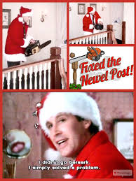 Griswold Christmas Tree Scene by Christmas Vacation 1989