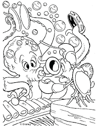 Ariel Mermaid Printable Coloring Pages Little The Free Sheets Kids Full Size