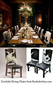 Western Cowhide And Leather Dining Chairs, Bar Stools ...
