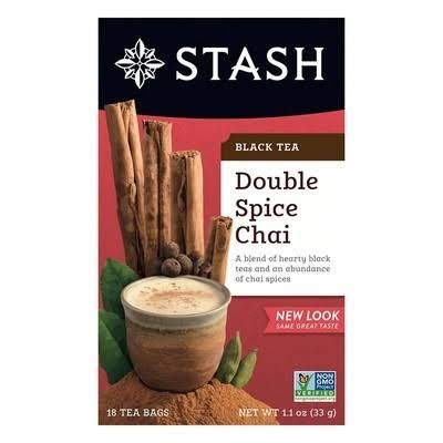 Stash Tea Double Spice Chai Black Tea - 18 Tea Bags