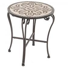 Metal Patio Side Table Heather Bates Design Tables Unbelievable Picture Furniture