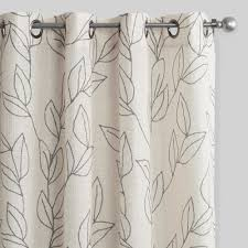 Sunbrella Curtains With Grommets by Scribble Leaves Grommet Top Curtains Set Of 2 World Market