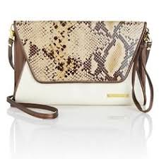 The Orange One Is Amazing IMAN Global Chic Summer Style Python Print Color Clutch At