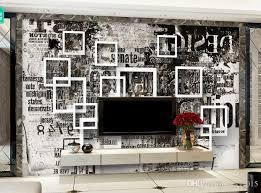 großhandel benutzerdefinierte fototapete retro box graffiti buchstaben wandmalerei schlafzimmer wohnzimmer sofa 3d tapete yyyy2015 15 53 auf