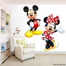 Minnie Mouse Bedroom Decor by Mickey Mouse And Minnie Mouse Room Decor Wall Decal Removable