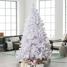 Pre Lit White Flocked Christmas Tree by Flocked Pre Lit Christmas Tree Christmas Lights Decoration
