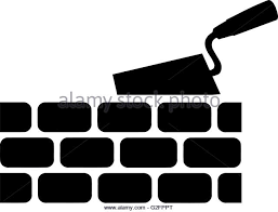 Brick with Trowel Symbol Stock Image