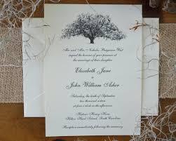 Oak Tree Wedding Invite