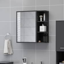 bad spiegelschrank grau 62 5x20 5x64 cm spanplatte