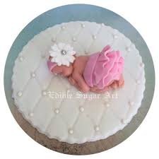 BABY SHOWER CAKE TOPPER FONDANT EDIBLE PINK AND GREY BABY SHOWER