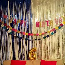 Foil Fringe Curtain Singapore by Foil Fringe Curtain 1 2m Door Curtains Tinsel Shining Party