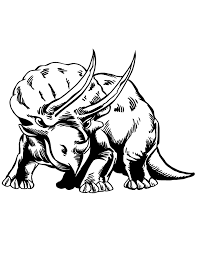Realistic Triceratops Dinosaur Coloring Page
