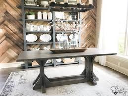 DIY Industrial Corbel Farmhouse Table