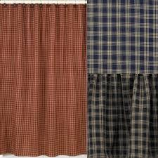 Sturbridge Curtains Park Designs Curtains by Sturbridge Plaid Shower Curtains Primitive Home Decors