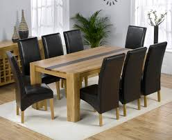 9PC DINING ROOM SET TABLE AND 8 UPHOLSTERED SEAT CHAIRS IN View Larger