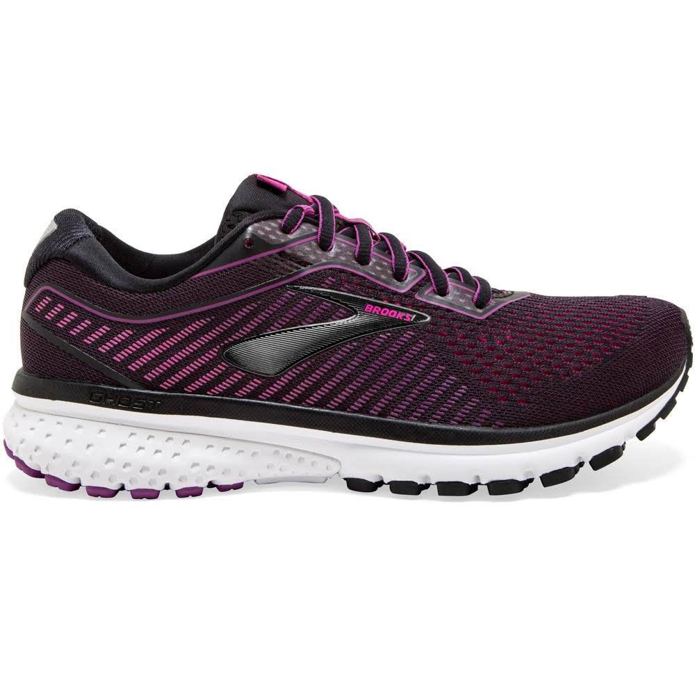 Brooks Women's Ghost 12 Black-Hollyhock-Pink / 8.5