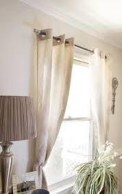 Spring Tension Curtain Rods Home Depot by Curtain Rod Using Cabinet Knobs And A Dowel Rod