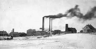 Photograph Of Buildings Some Equipped With Large Smokestacks Number 2 Slope Springhill Mine