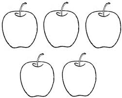 Apple Color Number Coloring Pages