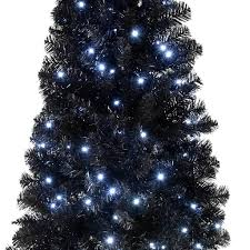 Black Pre Lit Pop Up Christmas Tree by Black Christmas Tree A Crispy White Tree With Black Matte And