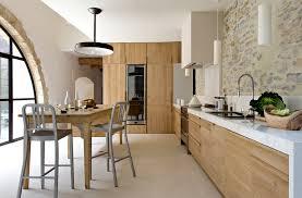 armoire cuisine en bois farmhouse armoire kitchen contemporary with exposed stones wall mur