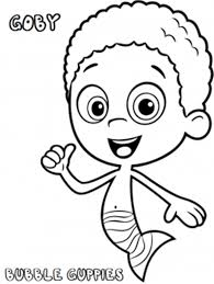 Printable Gobby Bubble Guppies Coloring Pages