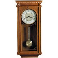 Bulova Table Clocks Wood by Bulova 24 25 In H X 11 25 In W Pendulum Chime Wall Clock C4419