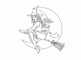 Fairy Moon Halloween Coloring Pages To Print 88873