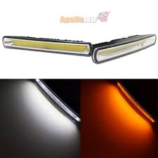 Dual Colors White Amber Switchback DRL COB LED Daytime Running Light ... Led Drl Daytime Running Light Fog Lamp Fits Ford Ranger T6 Px2 Mk2 Unique Bargains Truck Car White 6 Smd Driving 2009 2014 Board Lights F150ledscom Freeeasy Canyon Marker Mod Leds Chevy Colorado Gmc 7 Round 50w 30w H4 High Low Beam Led 10watt Xkglow 3 Mode Ultra Bright 14pcs Led Universal 2x45cm Auto Fxible Drl With Step Bar 1pcs Styling 12w Lights Dc 12v Archives Mr Kustom Accsories