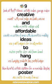 9 Ideas To Hang Poster